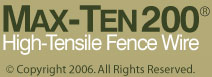 MAX-TEN 200 High-Tensile Fence Wire
